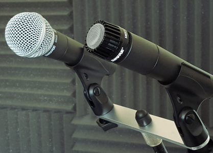 Shure SM57 and SM58