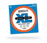 Струны для электрогитары D'ADDARIO EJ20 XL Jazz Extra Light
