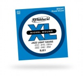Струны для электрогитары D'ADDARIO EJ21 XL Jazz Light
