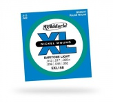 Струны для электрогитары D'ADDARIO EXL158 XL Baritone Light