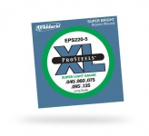 Струны для бас-гитары D'ADDARIO EPS220-5 Pro Steels Super Light 5str