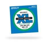 Струны для бас-гитары D'ADDARIO EXL220-5 XL Super Light 5str