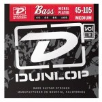 Струны для  бас-гитары DUNLOP DBN45105 NICKEL PLATED STEEL MEDIUM 45-105
