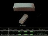 Звукосниматель GIOVANNI WCSB-1N WOOD CUSTOM SOAPBAR BASS NECK PICKUP WALNUT ALNICO 5