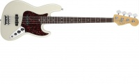 Бас-гитара FENDER AMERICAN STANDARD JAZZ BASS RW Olympic White