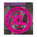 Струны для бас-гитары  D`ADDARIO EFX170-5 XL FLEX STEELS LIGHT 5 STRING 45-130