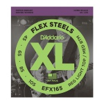 Струни для бас-гітари D`ADDARIO EFX165 XL FLEX STEELS REG LIGHT TOP / MED BOTTOM 45-105