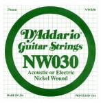 Струна для електрогітари D`ADDARIO NW030 XL Nickel Wound 030