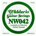 Струна для електрогітари D`ADDARIO NW042 XL Nickel Wound 042