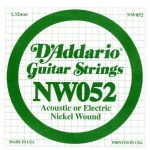 Струна для электрогитары D`ADDARIO NW052 XL Nickel Wound 052