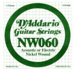 Струна для електрогітари D`ADDARIO NW060 XL Nickel Wound 060