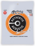 Струни для гітари MARTIN MA540FX Authentic Acoustic Flexible Core 92/8 Phosphor Bronze Light - Tommys Choice (12-54)