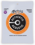 Струни для гітари MARTIN MA535FX Authentic Acoustic Flexible Core 92/8 Phosphor Bronze Custom Light (11-52)