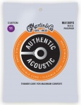 Струны для гитары MARTIN MA130FX Authentic Acoustic Flexible Core Silk & Phosphor Custom (11-47)