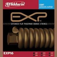 Струны для акустической гитары D'ADDARIO EXP16 EXP Phosphor BronzeLight