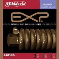 Струны для акустической гитары D'ADDARIO EXP26 EXP Phosphor Bronze Custom Light
