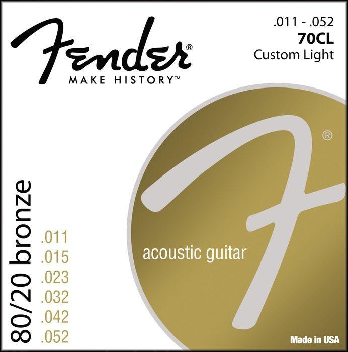 Струны для акустической гитары FENDER 70CL