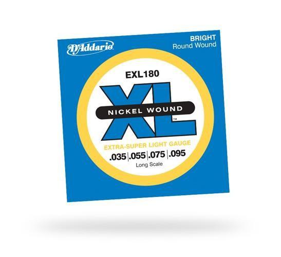 Струны для бас-гитары D'ADDARIO EXL180 XL Extra Super Light 4str