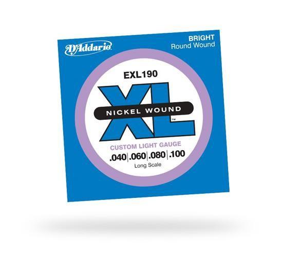 Струны для бас-гитары D'ADDARIO EXL190 XL Custom Light 4str