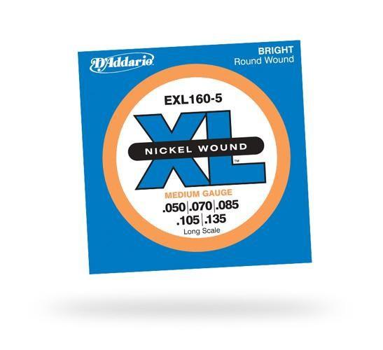 D'ADDARIO EXL160-5 XL Medium 5str