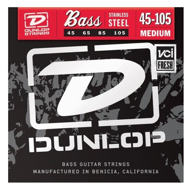 Струны для  бас-гитары DUNLOP DBS45105 STAINLESS STEEL MEDIUM 45-105