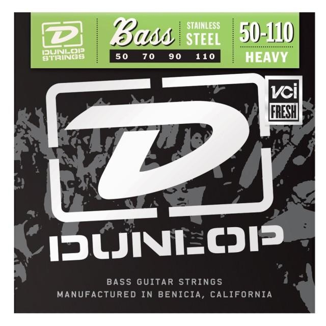 Струны для  бас-гитары DUNLOP DBS50110 STAINLESS STEEL HEAVY 50-110