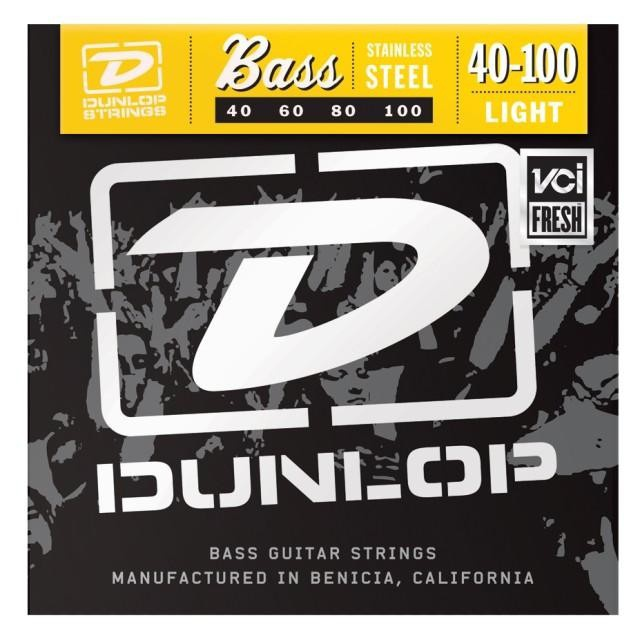 Струны для  бас-гитары DUNLOP DBS40100 STAINLESS STEEL LIGHT 40-100
