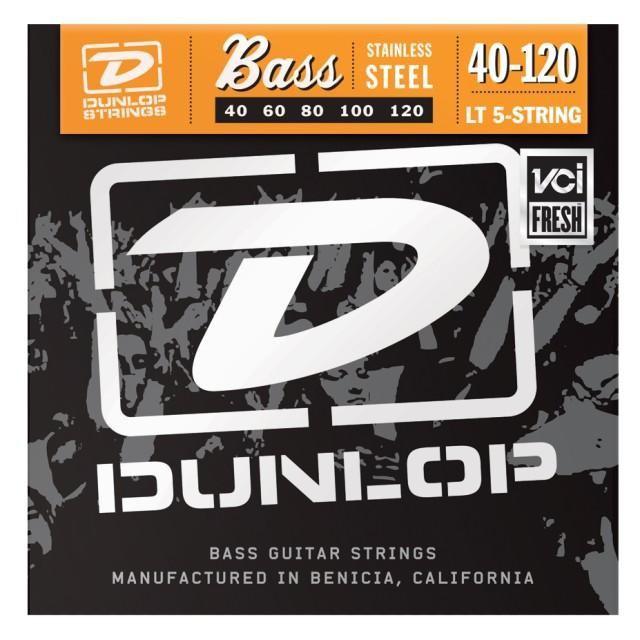 Струны для  бас-гитары DUNLOP DBS40120 STAINLESS STEEL LIGHT 5 STRING 40-120