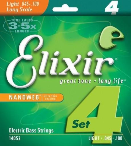 Струны для бас-гитары Elixir 4S NW L