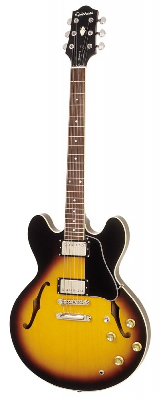 Полуакустическая гитара EPIPHONE DOT VSB CH HDWE