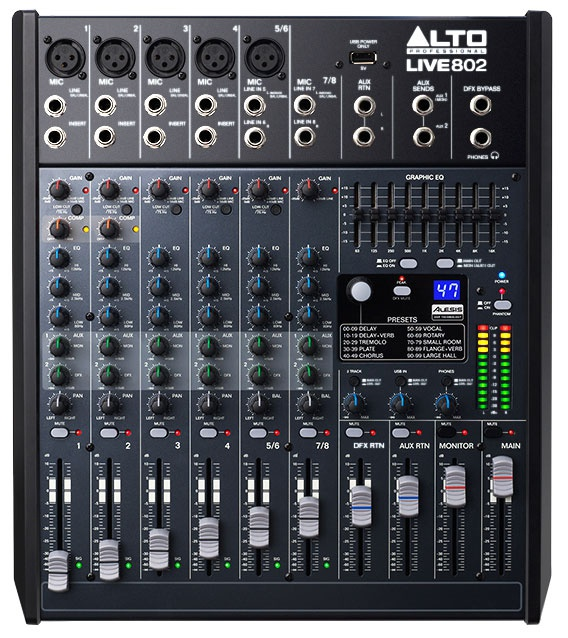 Микшерный пульт ALTO PROFESSIONAL LIVE 802