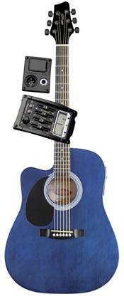 Электроакустическая гитара STAGG SW203CETU-LH