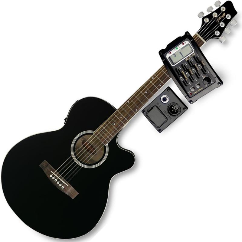 Электроакустическая гитара STAGG SW206CETU BK