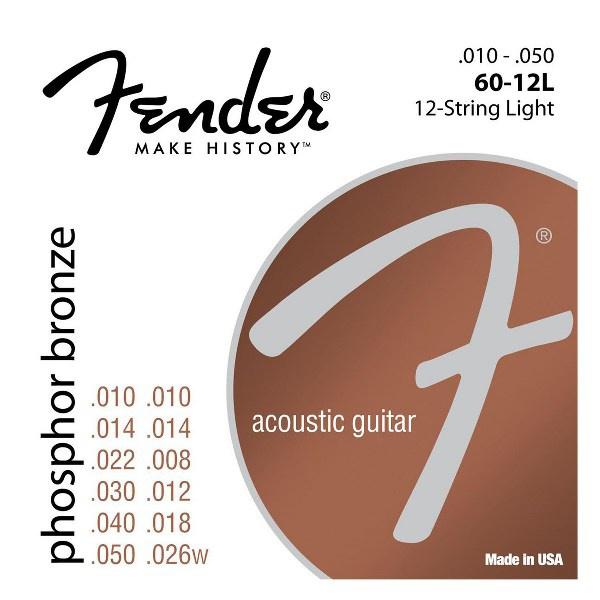 Струны для акустической гитары FENDER 60-12L