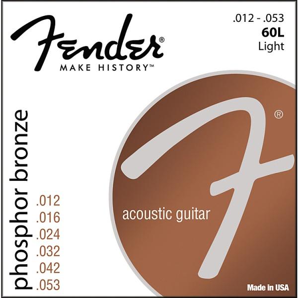 Струны для акустической гитары FENDER 60L