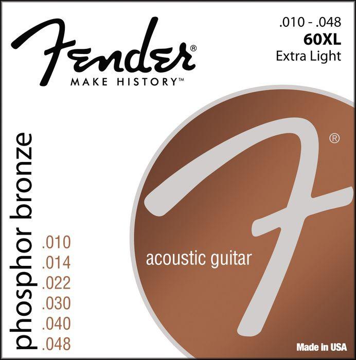 Струны для акустической гитары FENDER 60XL
