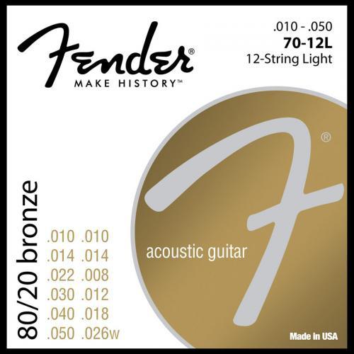 Струны для акустической гитары FENDER 70-12L