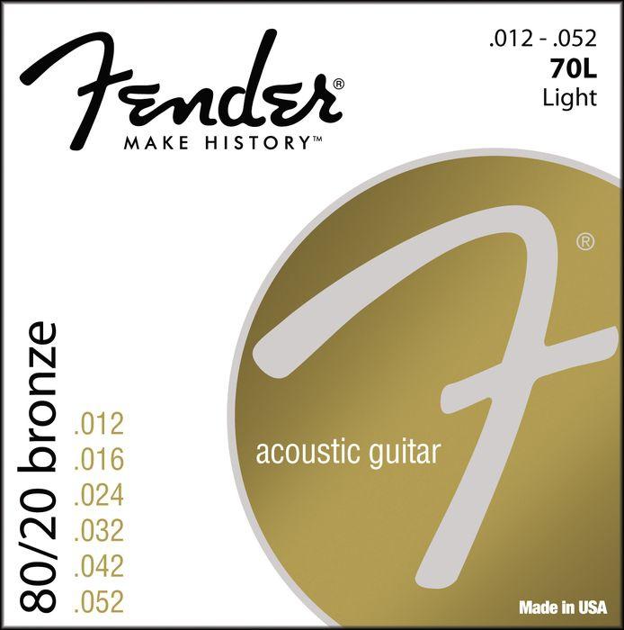 Струны для акустической гитары FENDER 70L