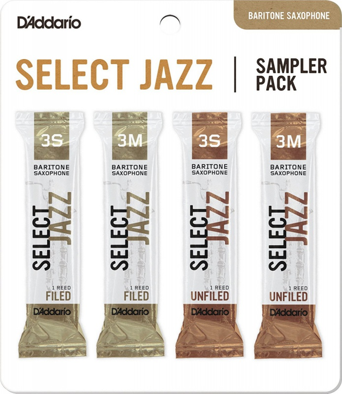 Набор тростей D'Addario Select Jazz Reed Sampler Pack - Baritone Sax 3S3M