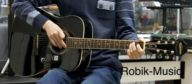 Акустична гітара EPIPHONE DR-100 EBONY CH HDWE