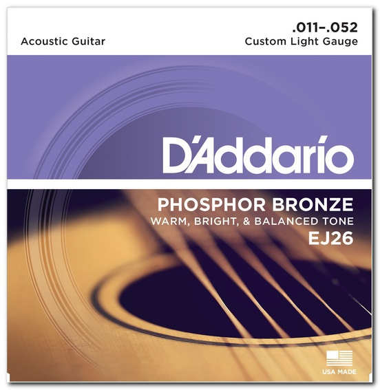 D'ADDARIO EJ26 Phosphor Bronze Custom Light