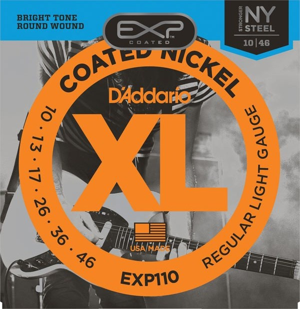 Струны для электрогитары D'ADDARIO EXP110 EXP Regular Light