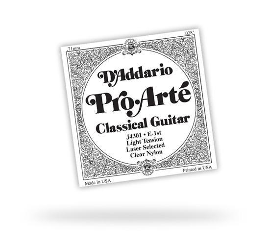 Струна для классической гитары D'ADDARIO J4504 PRO ARTE CLEAR NYLON D
