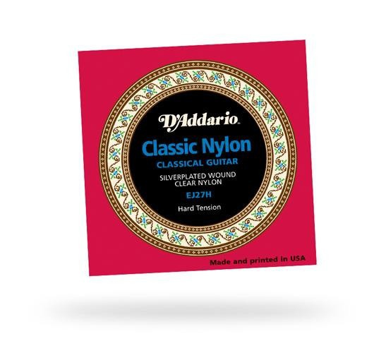 Струны для классической гитары D'ADDARIO EJ27H Student Classics Hard Tension