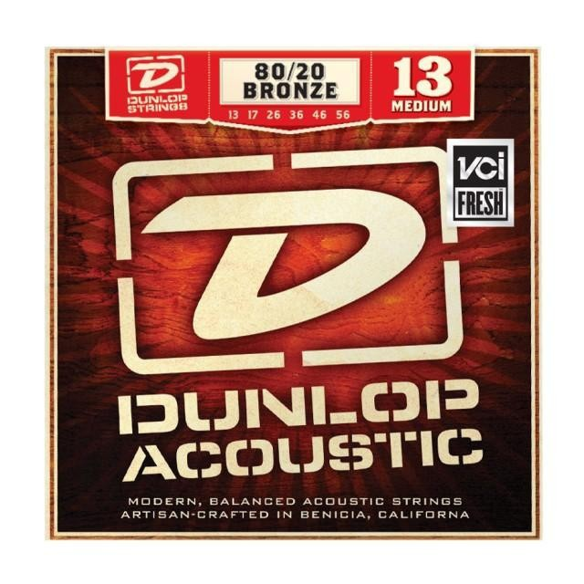 Струны для акустической гитары DUNLOP DAB1356 80/20 BRONZE MEDIUM