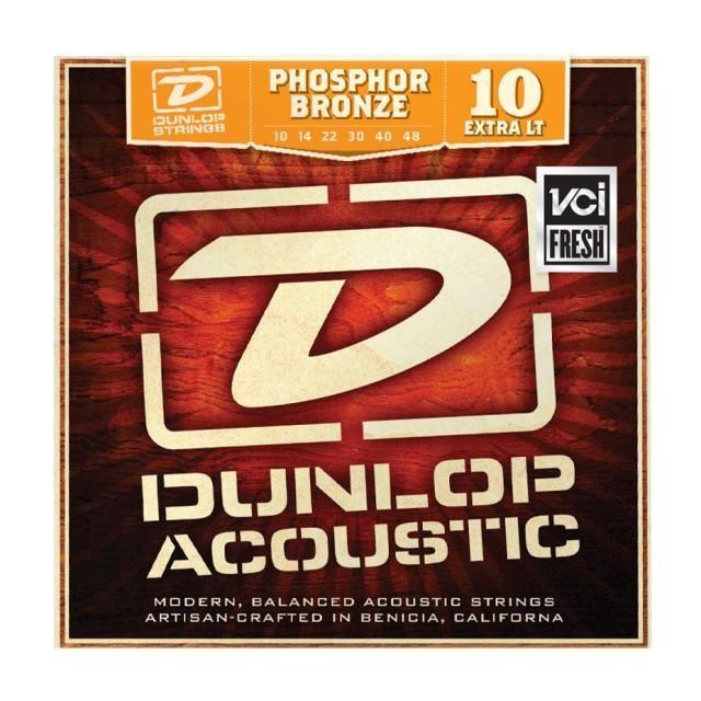 Струны для акустической гитары DUNLOP DAP1048 PHOSPHOR BRONZE EXTRA LIGHT