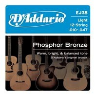 D'ADDARIO EJ38 Phosphor Bronze Light 12-String
