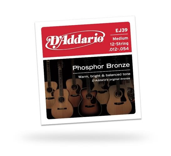 D'ADDARIO EJ39 Phosphor Bronze 12-String Medium